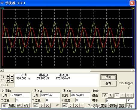 multisim示波器设置