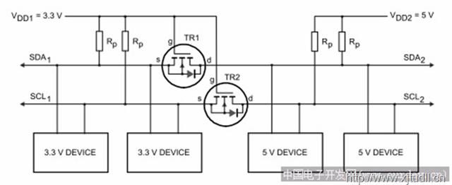 mos-n 场效应管 双向电平转换电路 -- 适用于低频信号